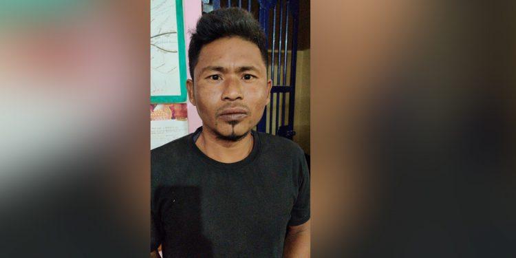 Arrested DNLA cadre Maiham Diphusa. Image: Northeast Now