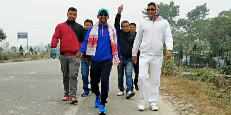 Khanin Roy will walk 100 km and aware people on drug addiction