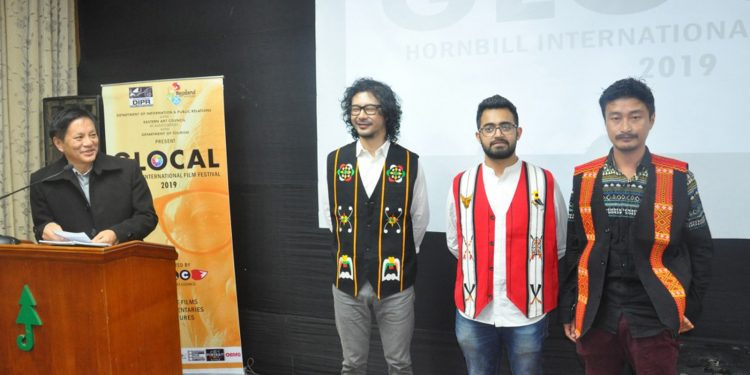 Axone team members at the special screening of the movie at Hornbill Festival on Thursday. Image: Northeast Now