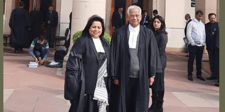 Tarun Gogoi as lawyer in SC on Wednesday. Image credit: Indian Express