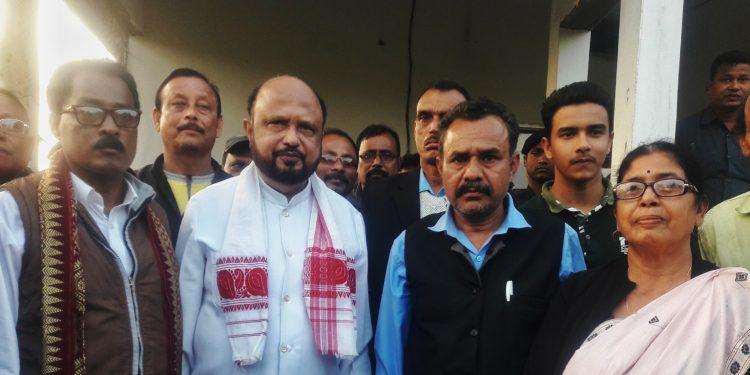 Former Assam CM Prafulla Mahanta in Udalguri on Friday. Image: Northeast Now