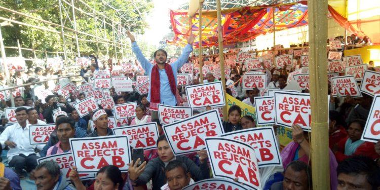 Anti-CAB protest in Guwahati.