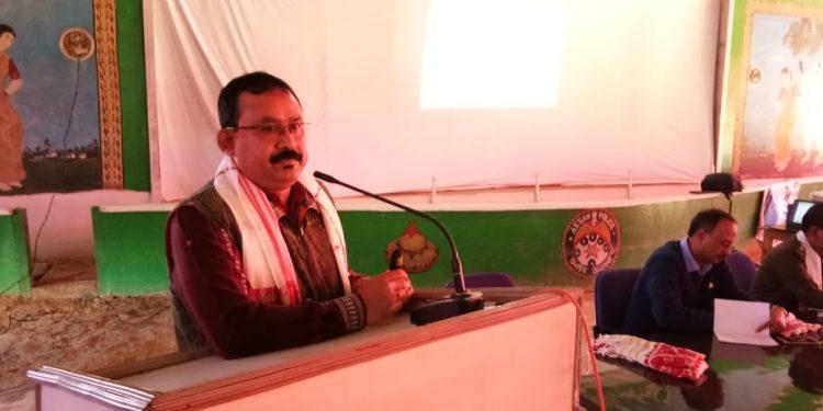 Dr Bibhab Kumar Talukdar CEO and secretary general of Aaranyak speaking at the workshop. Handout image