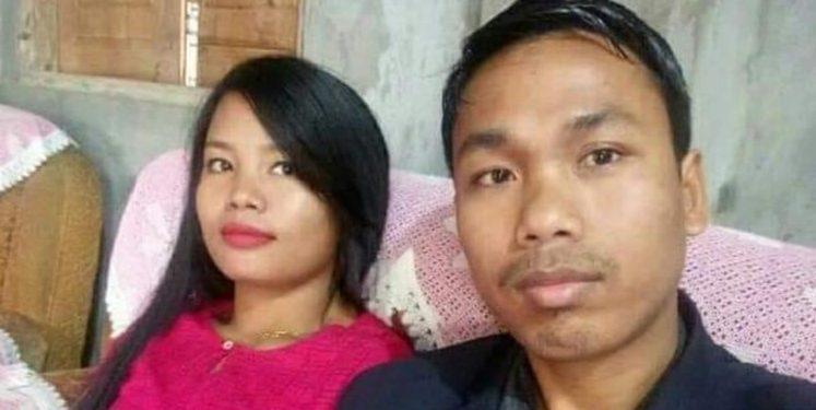 File image IPFT MLA Dhananjoy Tripura with his wife