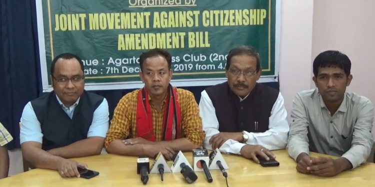 JMCAB has demanded Tripura's complete exemption from the ambit of the CAB.