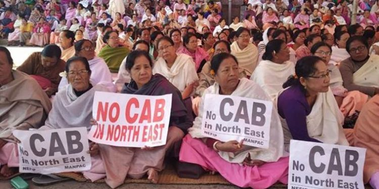 Anti-CAB protest in Imphal.  (File image)