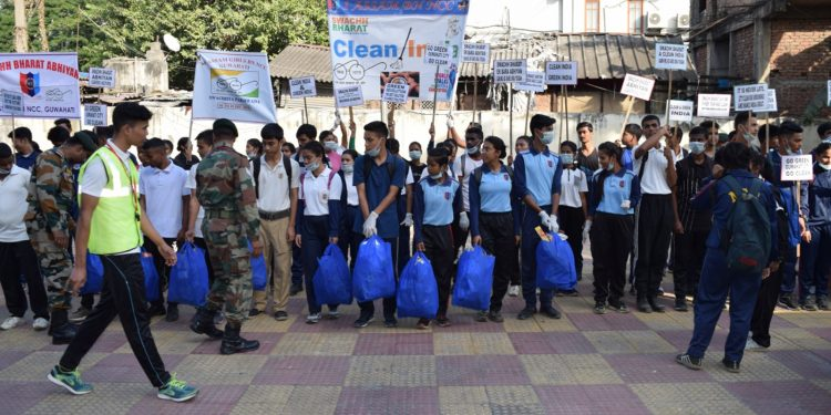 plogging by NCC cadets