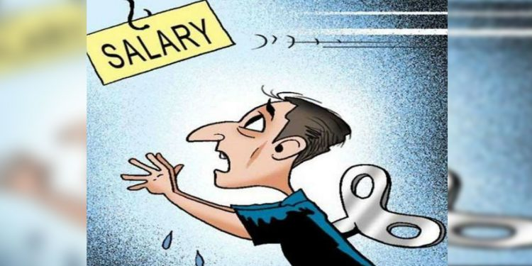 salary stopped