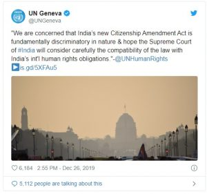 UN calls CAA fundamentally discriminatory 1