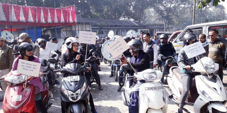 Women bikers in Mangaldai