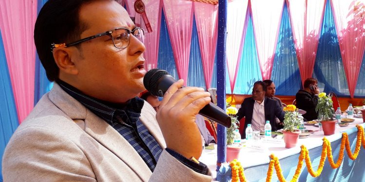 Mangaldai MLA Gurujyoti Das speaking on the occasion, Image: Northeast Now