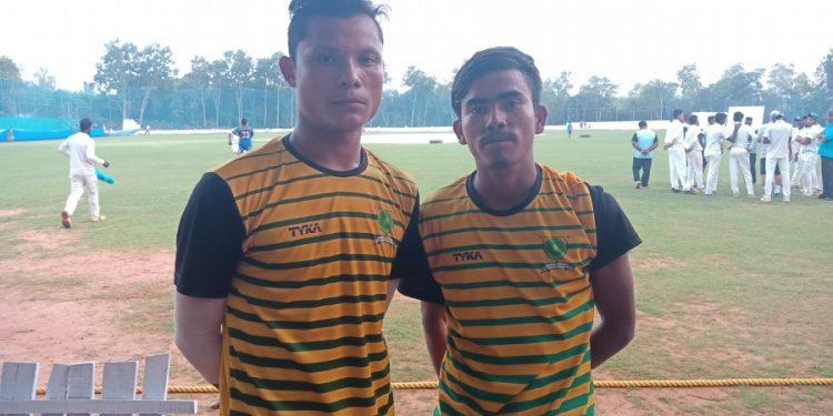 Dippu Sangma (right) with teammate Chengkam Sangma. Courtesy: espncricinfo.com