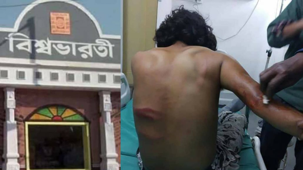 Now ABVP attacks Visva Bharati students 1