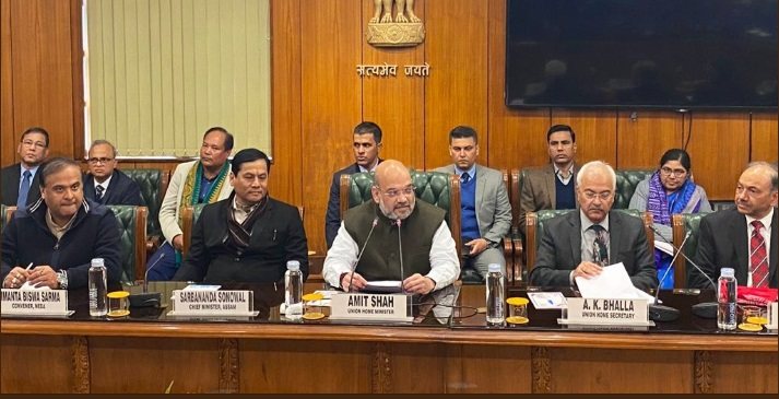 The tripartite agreement was in presence of Union Home Minister Amit Shah. Image credit: Twitter