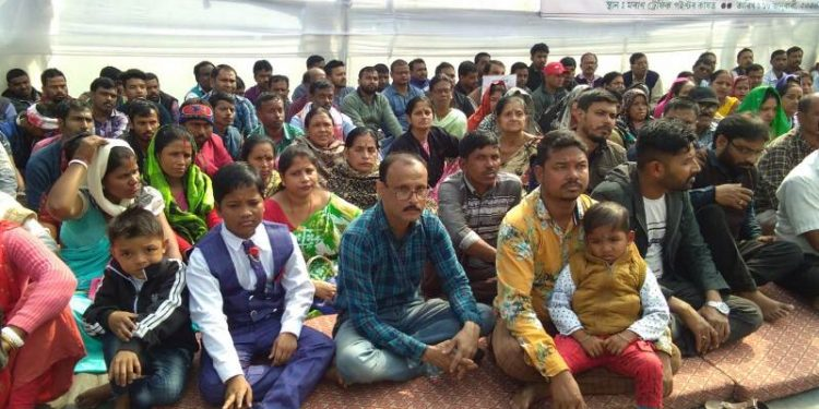 Around five hundreds peoples from Bengali Samaj of Moran participated in the protest.