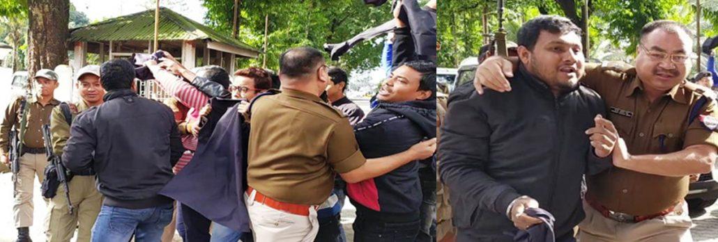Black flags waved atAssam minister Naba Doley, Lakhimpur MP 4