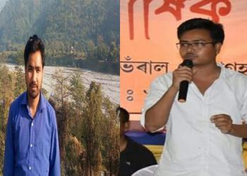 KMSS leaders Dhajya Konwar and Bitu Sonowal