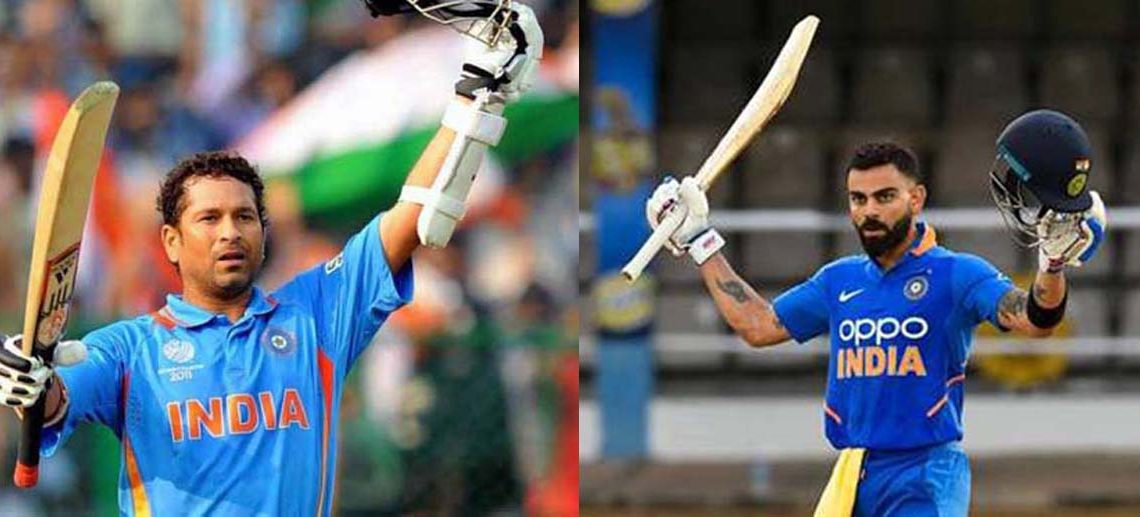 Virat Kohli one ton away from Sachin Tendulkar's record