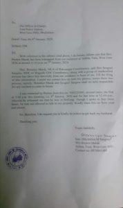 NPP MLA Benedict Marak kidnaps Boston Marak, FIR lodged 4