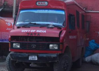 The mail van of the Indian Postal department.