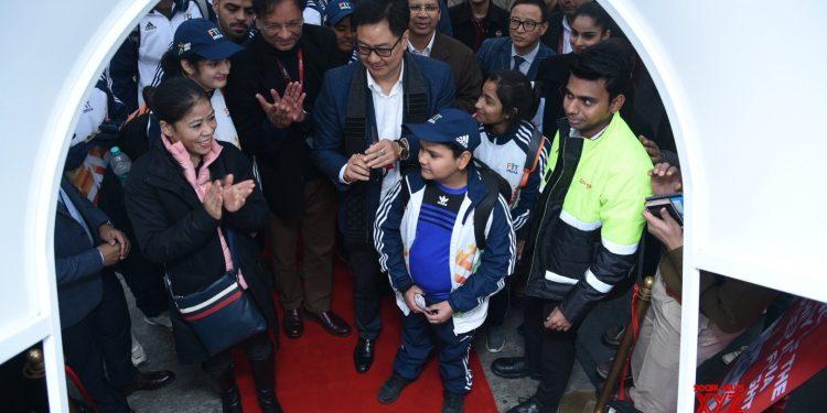 Rijiju, Mary Kom send off athletes for Khelo India in Guwahati 1