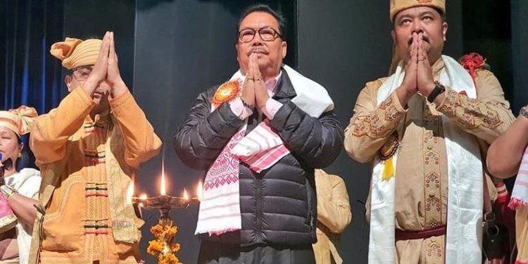 Arunahcal Pradesh deputy CM Chowna Mein (centre) at the event in Guwahati on Sunday.