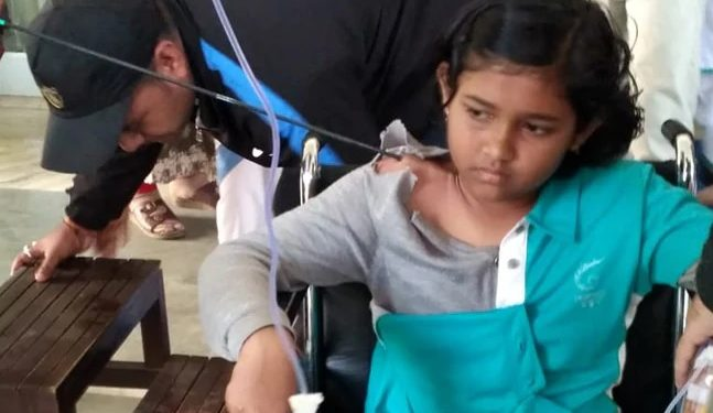 Shivangini Gohain is being treated by a sports doctor at Safdarjung hospital in Delhi. Image courtesy: NDTV
