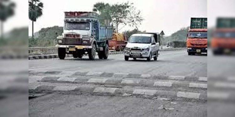 Speed breaker on National Highway