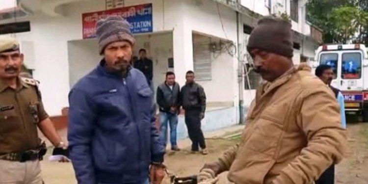 Fraudster Padmeswar Gogoi in police custody. Image: Northeast Now