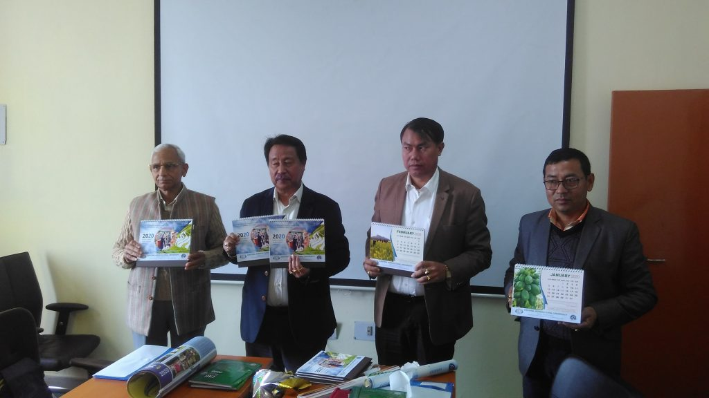 CAU VC and other dignitaries releasing calendar. (Image: Northeast Now)