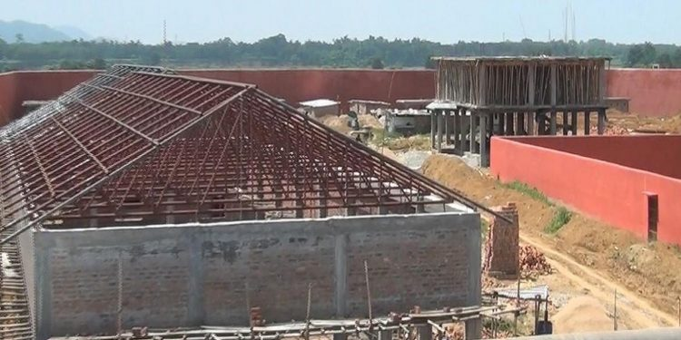 File image of an under-construction detention centre in Assam