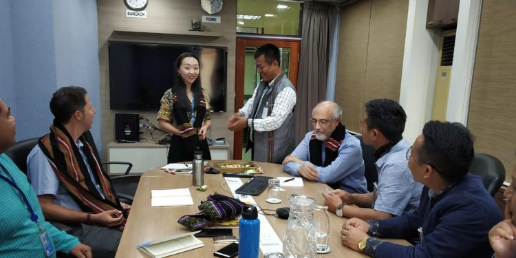 Mizoram horticulture development board vice chairman F Lalnunmawia with UN delegation. Image: Northeast Now
