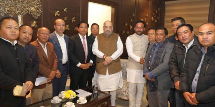 Home Minister Amit Shah in a meeting with a delegation of Meghalaya. File Image