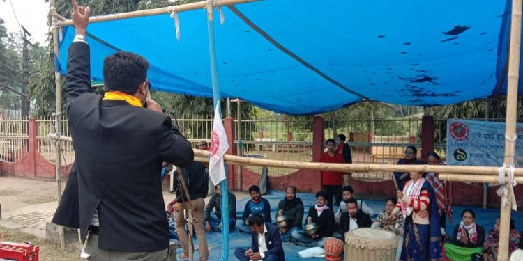 Anti-CAA protest in Diphu on Thursday