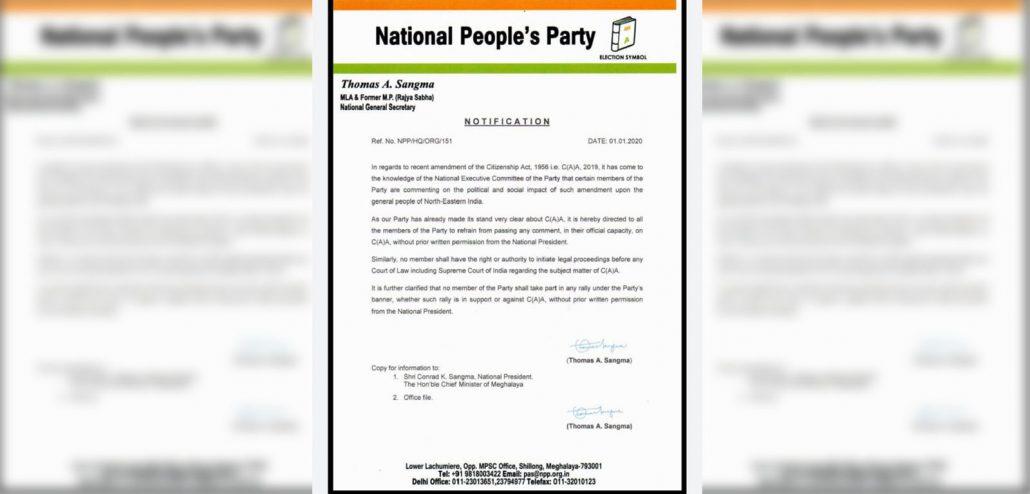 NPP supports CAA? 4