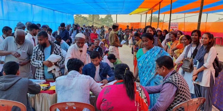 People queuing up to register for availing Lifeline Express services. Image: Northeast Now