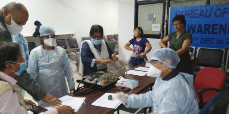 Special coronavirus screening centre at LGBI Airport. Image: Northeast Now