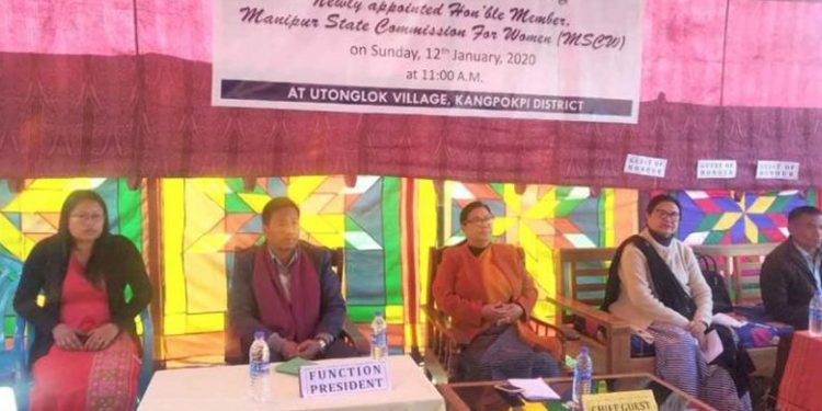 MSCW chairperson with other dignitaries. Image credit: Imphal Free Press
