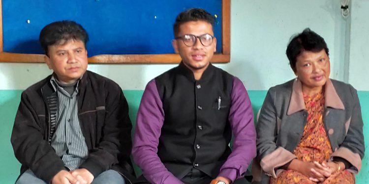 Meghalaya singer Gabriel T Mawlong (middle). Image: Northeast Now
