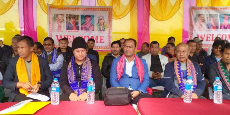 NDFB (S) leaders at the welcome ceremony in Kokrajhar on Wednesday. Image: Northeast Now