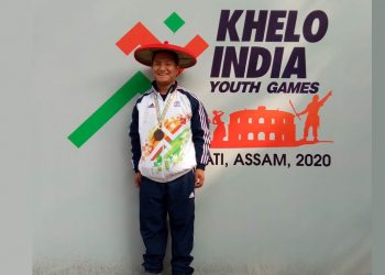 Pemba Tshering Sherpa won the first medal for Sikkim. Image: Northeast Now
