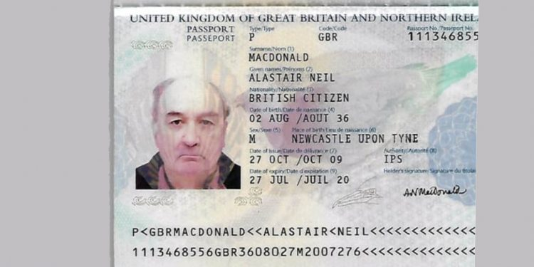 Copy of the passport of the dead British national. Image: Northeast Now