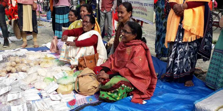 A woman vendor in the all-women weekly market. Image: Northeast Now