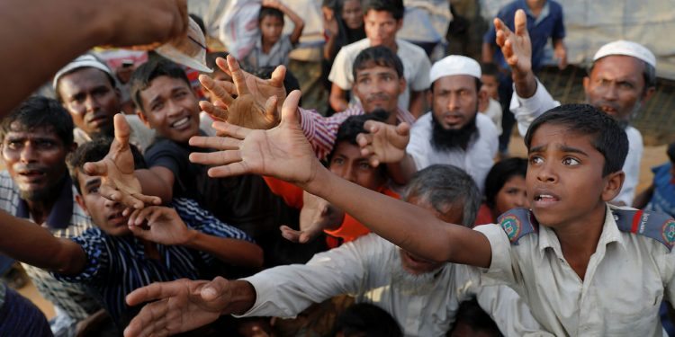 Rohingyas in a refugee camp (file image)