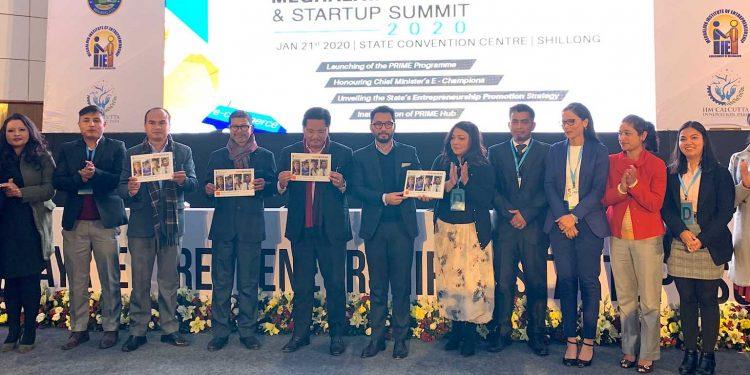 Meghalaya CM Conrad Sangma with participants of Entrepreneurship and Startup Summit 2020