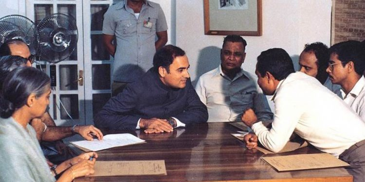 Signing of Assam Accord (File image)