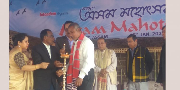 Jadav Payeng and others inaugurating the 17th Assam Mohotsav