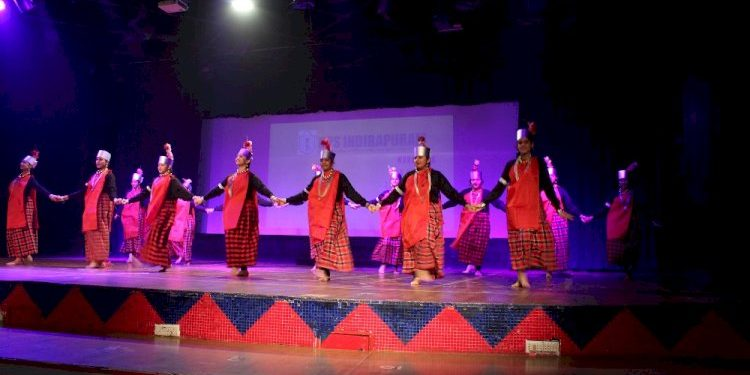 """The students showcased a glimpse of the """"Abode of Clouds"""" through a unique informative presentation on the land and people of Meghalaya. Image credit: City Air News"""