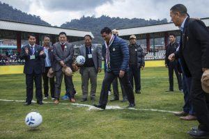 Arunachal CM dedicates stadium 5