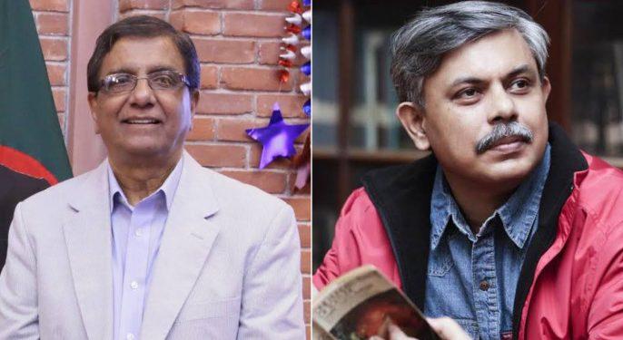 Prothom Alo Editor Matiur Rahman and Deputy Editor Anisul Haque.
